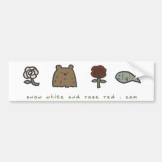 "Snow White and Rose Red ""code"" bumper sticker Car Bumper Sticker"