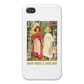 Snow White  and Rose Red iPhone 4 Case