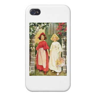 Snow White And Rose Red Covers For iPhone 4