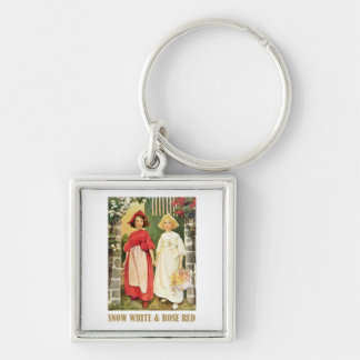Snow White  and Rose Red Keychain