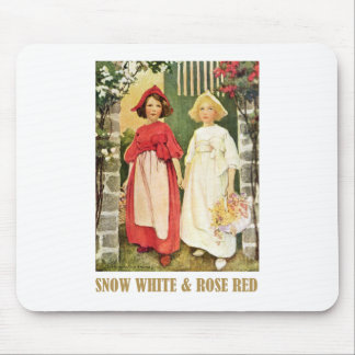Snow White  and Rose Red Mouse Pad
