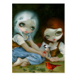 """""""Snow White and Rose Red"""" Postcard"""