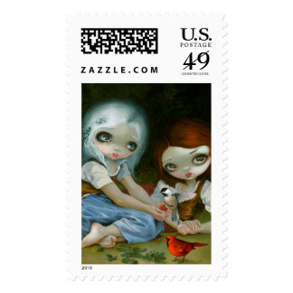 """""""Snow White and Rose Red"""" Stamps"""