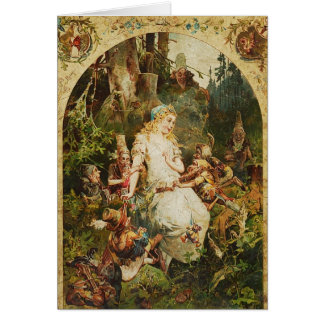 Snow White and Seven Dwarves Greeting Card