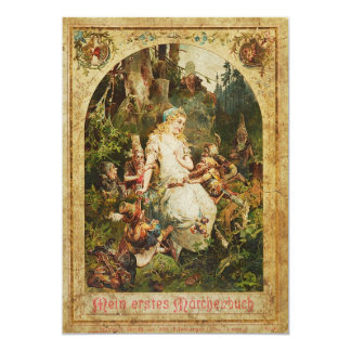 Snow White and Seven Dwarves Card