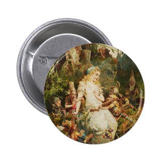 Snow White and Seven Dwarves Pinback Button