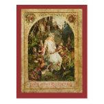 Snow White and Seven Dwarves Postcard