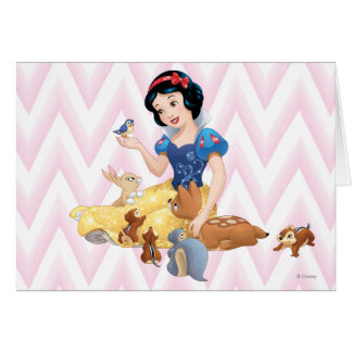 Snow White and the Forest Animals Card