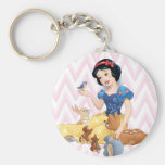 Snow White and the Forest Animals Key Chain