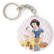 Snow White and the Forest Animals Keychain