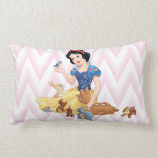 Snow White and the Forest Animals Lumbar Pillow