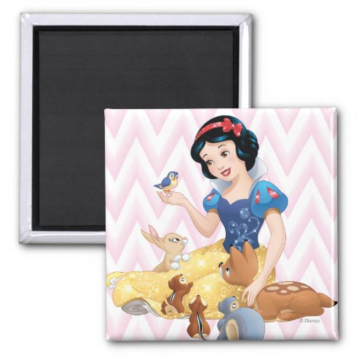 Snow White and the Forest Animals Magnets