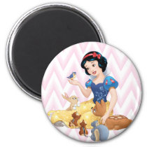 Snow White and the Forest Animals Magnet