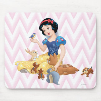 Snow White and the Forest Animals Mouse Pad