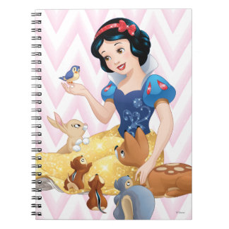 Snow White and the Forest Animals Spiral Note Book