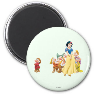 Snow White and the Seven Dwarfs 1 2 Inch Round Magnet
