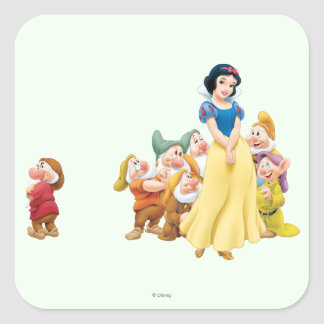 Snow White and the Seven Dwarfs 1 Square Stickers