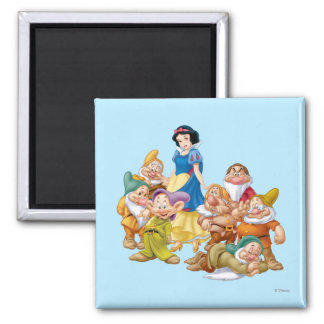 Snow White and the Seven Dwarfs 2 2 Inch Square Magnet