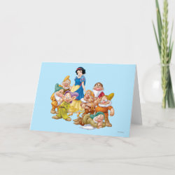 Cute Snow White & The Seven Dwarfs Standard Card