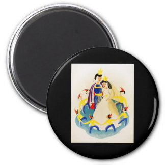 Snow White and the seven dwarfs 2 Inch Round Magnet
