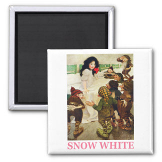 Snow White and The Seven Dwarfs 2 Inch Square Magnet