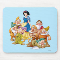 Mousepad with Cute Snow White & The Seven Dwarfs design