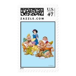 Medium Stamp 2.1' x 1.3' with Cute Snow White & The Seven Dwarfs design