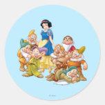 Snow White and the Seven Dwarfs 2 Round Sticker