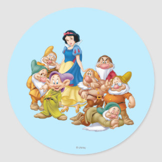 Snow White and the Seven Dwarfs 2 Round Sticker