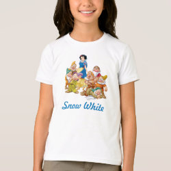 Girls' American Apparel Fine Jersey T-Shirt with Cute Snow White & The Seven Dwarfs design