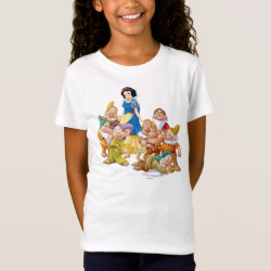 Girls' Fine Jersey T-Shirt with Cute Snow White & The Seven Dwarfs design