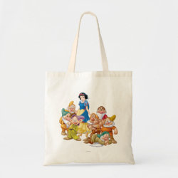 Budget Tote with Cute Snow White & The Seven Dwarfs design