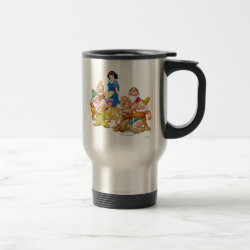 Travel / Commuter Mug with Cute Snow White & The Seven Dwarfs design