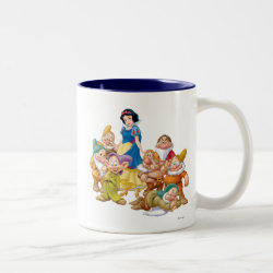 Two-Tone Mug with Cute Snow White & The Seven Dwarfs design