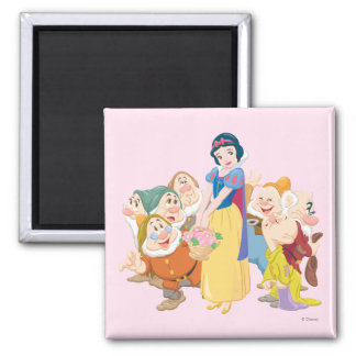Snow White and the Seven Dwarfs 3 2 Inch Square Magnet