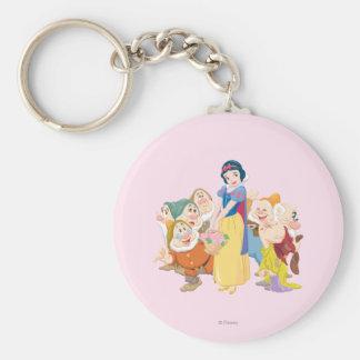 Snow White and the Seven Dwarfs 3 Basic Round Button Keychain