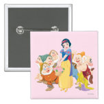 Snow White and the Seven Dwarfs 3 Pinback Button