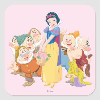 Snow White and the Seven Dwarfs 3 Square Sticker