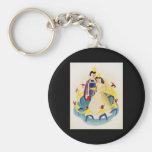 Snow White and the seven dwarfs Basic Round Button Keychain