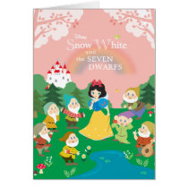 Snow White and the Seven Dwarfs Cartoon Card