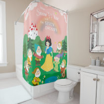 Snow White and the Seven Dwarfs Cartoon Shower Curtain