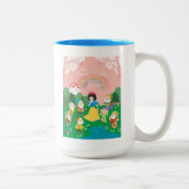 Snow White and the Seven Dwarfs Cartoon Two-Tone Coffee Mug