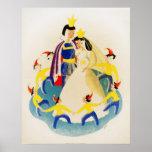 Snow White and the seven dwarfs Print