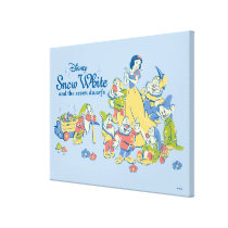 Snow White and the Seven Dwarfs taking a Break Canvas Print
