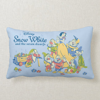 Snow White and the Seven Dwarfs taking a Break Lumbar Pillow