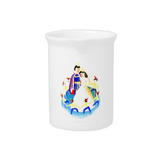 Snow White and the Seven Dwarfs Vintage WPA Print Drink Pitchers