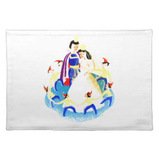 Snow White and the Seven Dwarfs Vintage WPA Print Placemat
