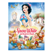Snow White and the Seven Dwarfs with Evil Queen Postcard