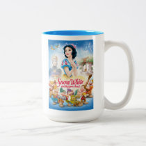 Snow White and the Seven Dwarfs with Evil Queen Two-Tone Coffee Mug