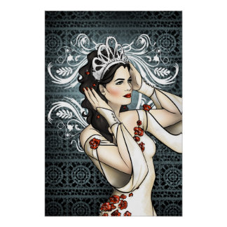 Snow White Beauty Queen With Tiara Poster